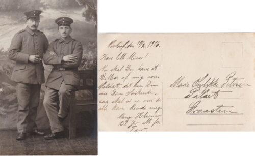 Breve fra Christian Petersen sendt fra Nortorf. Januar-Februar 1916.