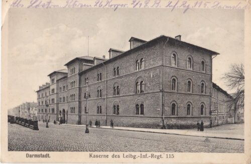 Breve & postkort fra Christian, da han er i Darmstadt